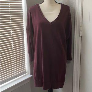 NWOT express maroon sweater dress